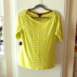 Tommy Hill figure striped T-shirt